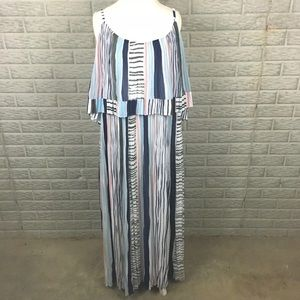 Lane Bryant Plus Size Maxi Dress Tiered Empire